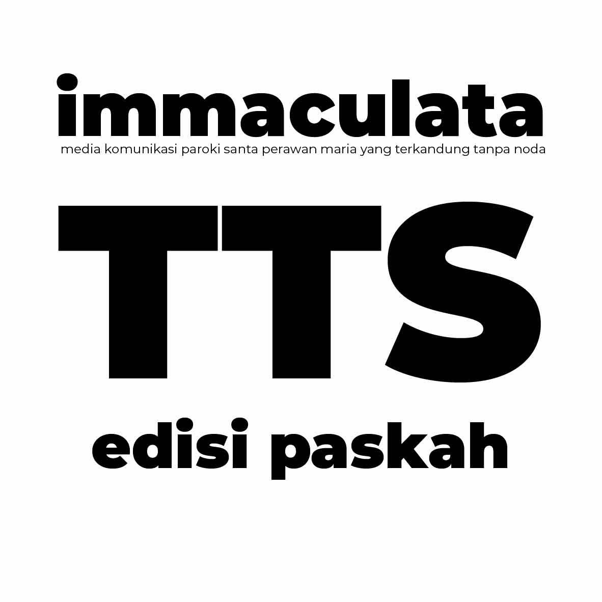 Teka Teki Silang (TTS) Buletin Immaculata edisi Paskah